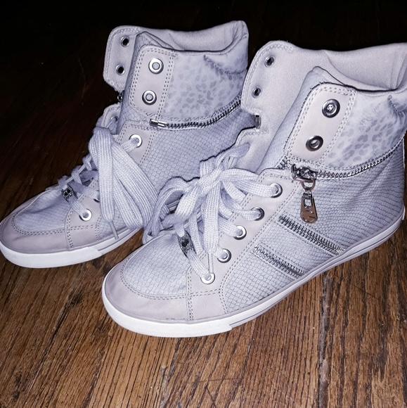 G by Guess Shoes - Womens G by Guess gray hightop sneakers, sz 10